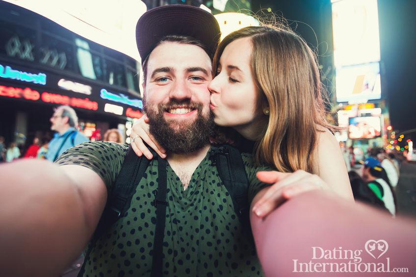 Happy couple dating