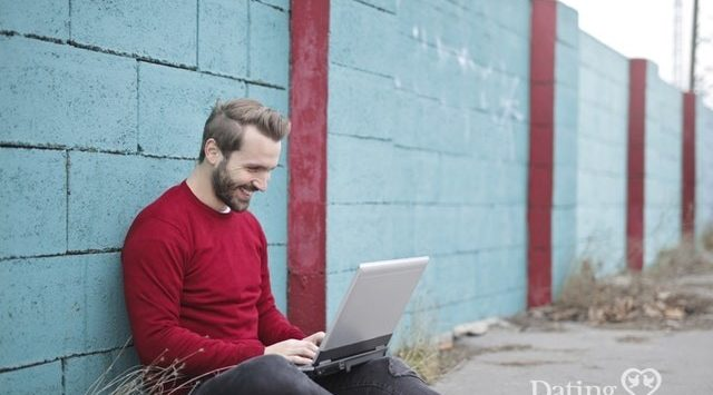 man reading a dating profile