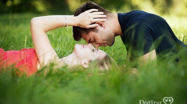 romantic couple at the park