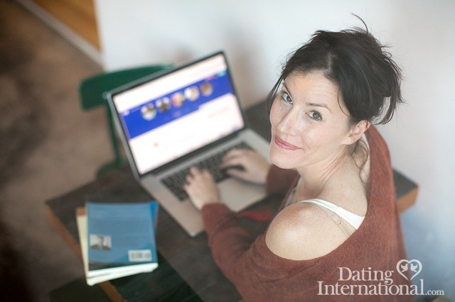 a woman exploring online dating